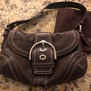 Brown classic leather Coach purse